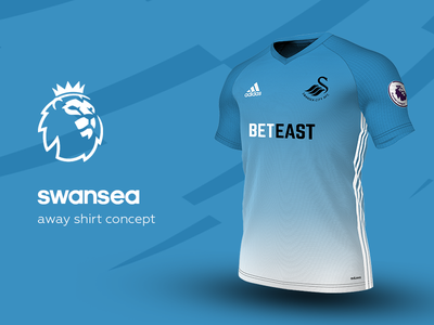 Swansea Away Shirt by adidas swansea premier league adidas football kit jersey soccer