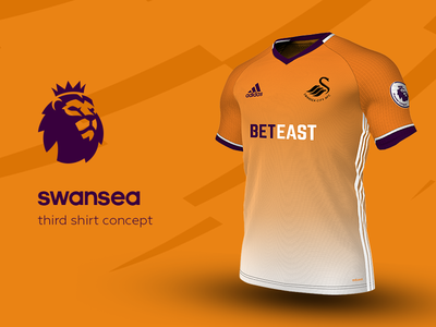 Swansea Third Shirt by adidas swansea premier league adidas football kit jersey soccer