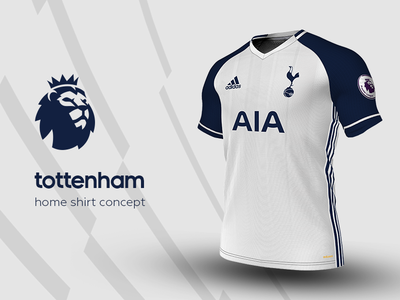 Tottenham Home Shirt by adidas tottenham premier league adidas football kit jersey soccer
