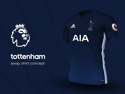 Tottenham Away Shirt by adidas tottenham premier league adidas football kit jersey soccer