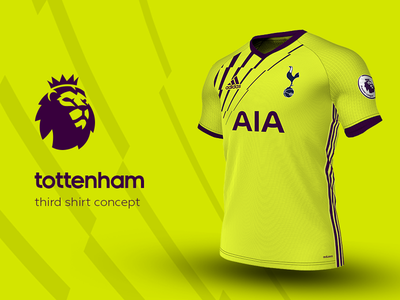 Tottenham Third Shirt by adidas tottenham premier league adidas football kit jersey soccer