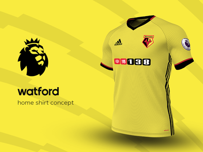Watford Home Shirt by adidas watford premier league adidas football kit jersey soccer