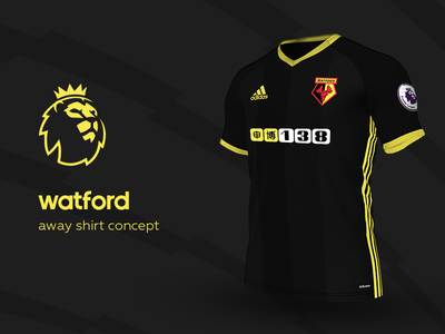 Watford Away Shirt by adidas watford premier league adidas football kit jersey soccer