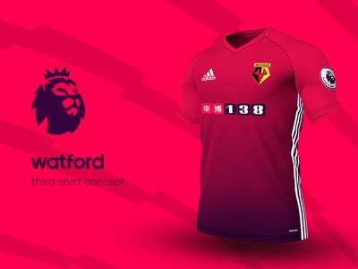 Watford Third Shirt by adidas watford premier league adidas football kit jersey soccer
