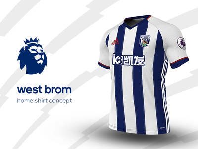 West Brom Home Shirt by adidas west brom premier league adidas football kit jersey soccer