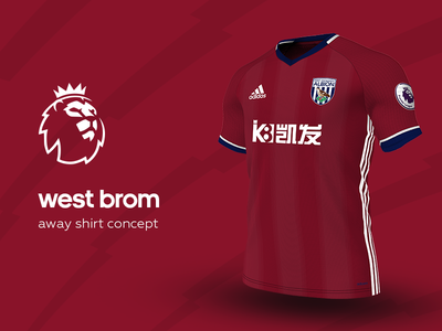 West Brom Away Shirt by adidas west brom premier league adidas football kit jersey soccer