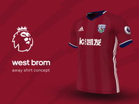 West Brom Away Shirt by adidas