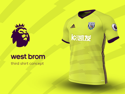 West Brom Third Shirt by adidas west brom premier league adidas football kit jersey soccer
