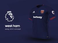 West Ham Away Shirt by adidas