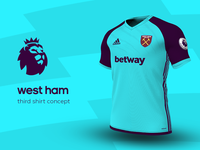 West Ham Third Shirt by adidas