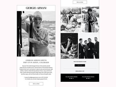 Giorgio Armani Email Marketing email marketing design digital ads branding