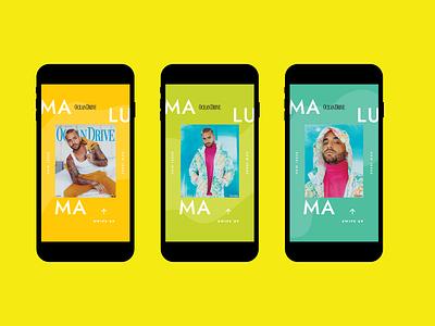 Maluma - IG story digital social media