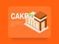 Chocolates cake 2.5D_Illustration