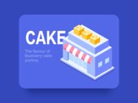 Blueberry cake 2.5D_Illustration