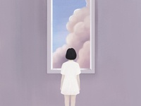 The girl and cloud