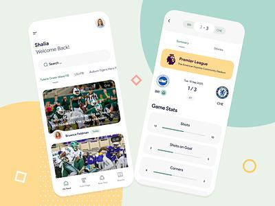Minimal Sport App mockup design ads banner app designer app ui ux design ui design app design sport ui sport app minimal design