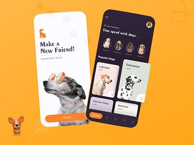 Pet App mobile app ux design dribbble app designer ui design minimal design minimal app minimal app design pet shop pet application pet adoption dog app pet app