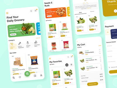Grocery App grocery online uiuxdesign design food and drink food and beverage dribbble ui design app designer mobile app grocery store grocery app grocery minimal design