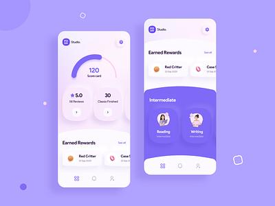 Earn With Regular Activity ui design minimal design flat design uiuxdesign mobile app neumorphism app style