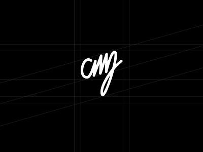 Personal Branding Exploration logomark retina personal cmj branding logo curves vector grid black white identity