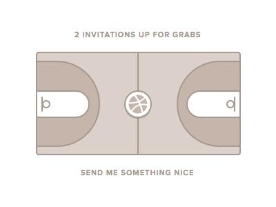 2 x Dribbble Invitations dribbble invitations draft links court player logo proxima nova stroke