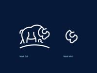 Animal Mark full hidden message hidden meaning exploration mark animal icon design vector branding illustration blue logo