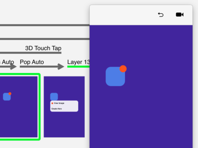 Pop Context Menu (iOS 3D Touch-esque) principle context menu pop gif 3d touch ios
