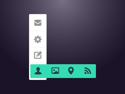 Menu Rebound rebound xmas menu quick menu ss pika mint icons white sketch2