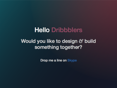 Would any person/s like to build a product together? html css nodejs api prototype products dribbbble retina design build skype partners team ideas