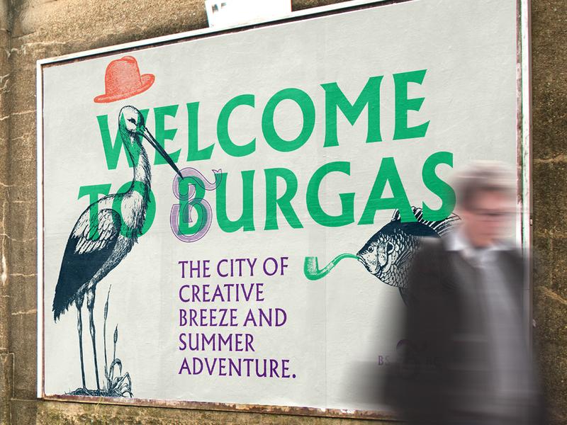 Burgas Tourist Identity Mockup illustration mark symbol type monogram logo typography manolov ivan design