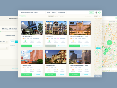 Venue search and event management tool