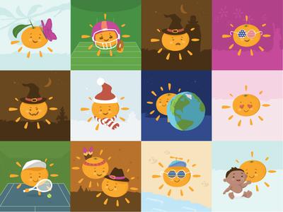 Sunrays Illustrations