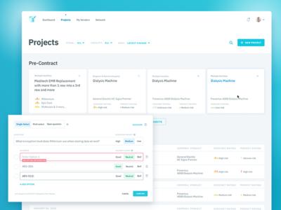 UI design for Vendor risk management tool
