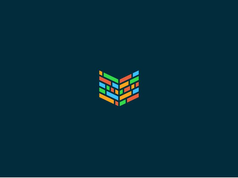 Coding School government identity logo design book code coding programing high school vocational