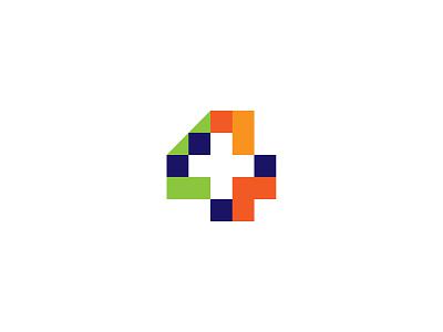 4+ Yearly Logo Submission monogram logotype fourplus studio plus four logodesign icon graphic mark typography manolov ivan design logo