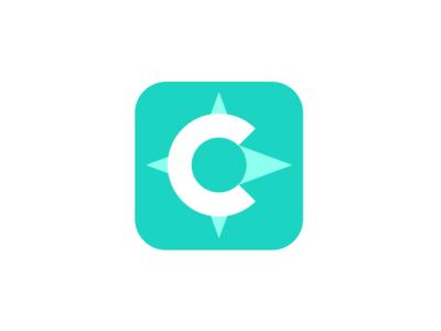 Codename Compass symbol app icon mojotech monogram logotype mark manolov ivan logo design