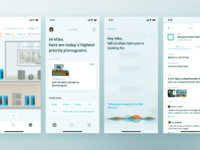 Associate app screens