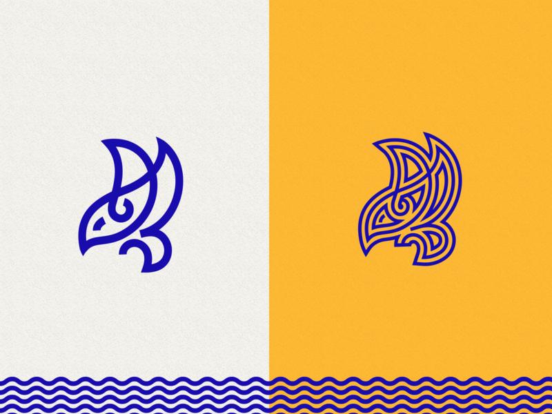 Birdie illustration branding icon vector monogram symbol graphic mark manolov ivan design logo