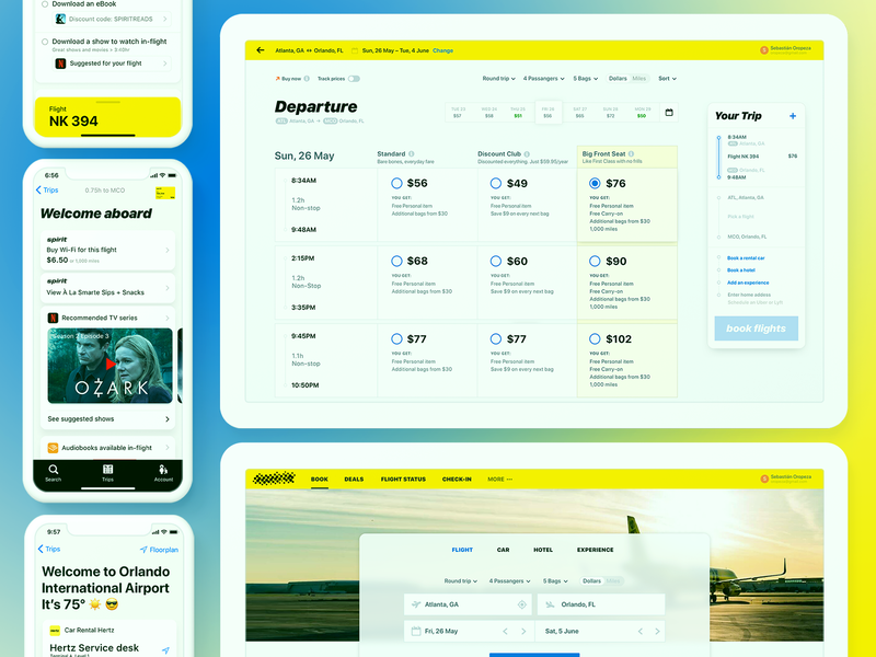 Airline digital experience