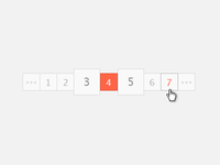 Pagination color touched