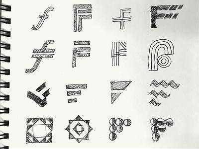 Sketches logo design sketches work sketch logotype typography branding icon graphic monogram mark manolov ivan logo design