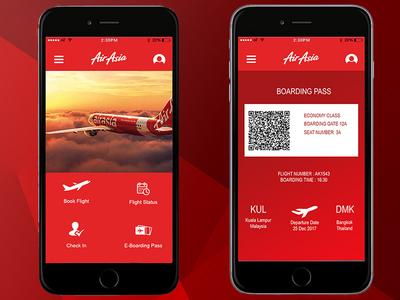 Airasia Flight app Redesign