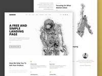 Namari - Free Landing Page