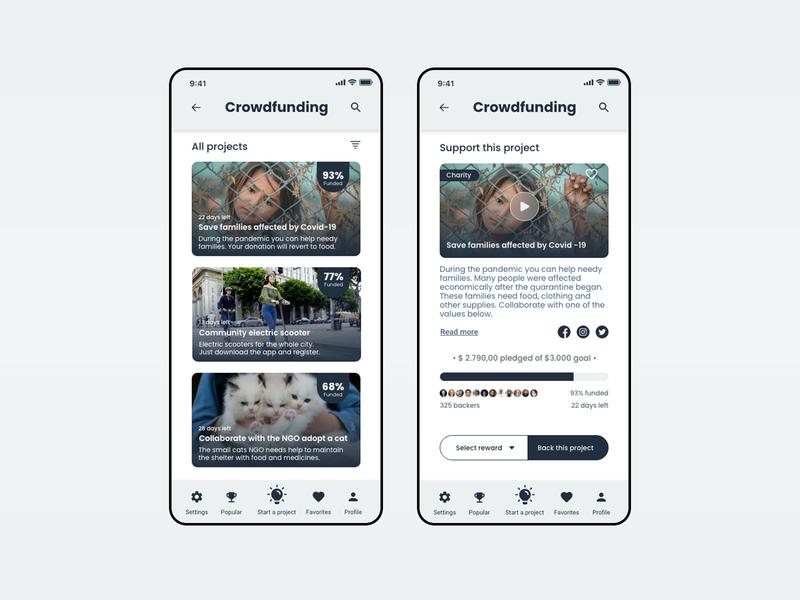 Daily UI #032 - CrowdfundingCampaign
