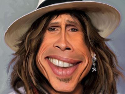 Steven Tyler caricature rock star american idol