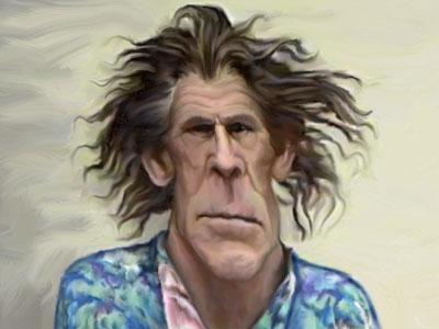 Nick Nolte caricature mug shot