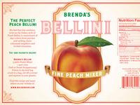 Brenda's Bellini Label