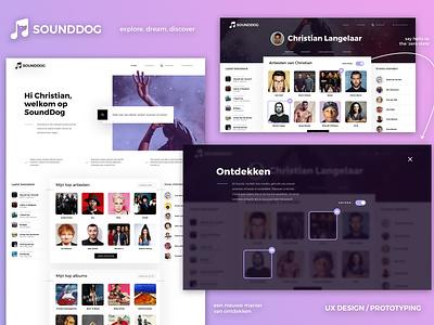 SoundDog UX UI ui ui ux design zero state illustration uidesign ux design ux ux  ui discover last.fm lastfm website music