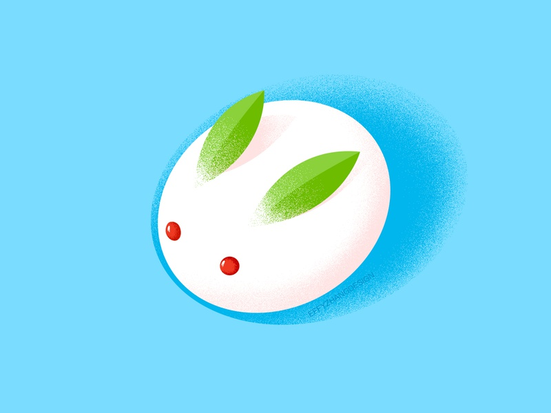 Lovely dessert icon japan traditional simple food bunny dessert candy cake rabbit lovely google gradient color cute ui icon effyzhang illustration