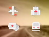 Flat Travel Icon